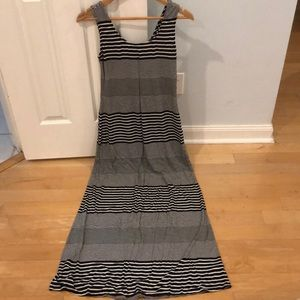 Black & White Stripped Maxi Dress